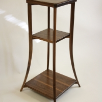 Walnut Plant Stand Table