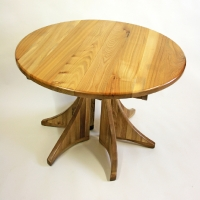 Elm Extending Dining Table, Closed Position