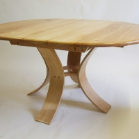 Ash Extending Dining Table, Closed Position
