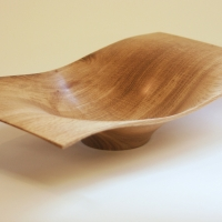"""Wave"" Oak Bowl"